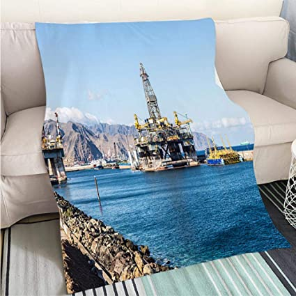 Amazon.com: BEICICI Luxury Super Soft Blanket Oil Platform ...