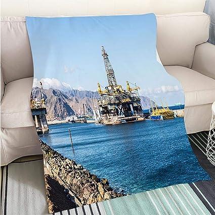 Amazon.com: BEICICI Luxury Super Soft Blanket Oil Platform ...