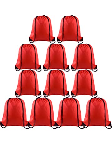 bdcb77c6be24 FEPITO 2-15 Pack Drawstring Backpack Bag Sackpack Cinch Tote Sports String  Backpack Gym Bags