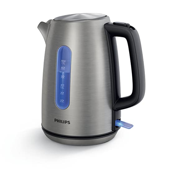 Philips Viva Collection HD9357/10 1.7L 2200W Acero inoxidable - Tetera eléctrica (1,7 L, Acero inoxidable, Acero inoxidable, 0,75 m, Acero inoxidable, ...
