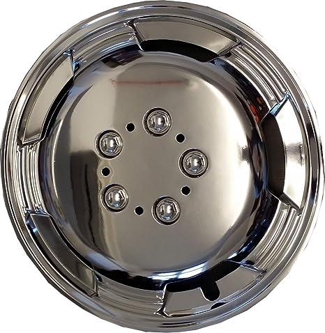 "15 ""Deep Dish cromo Tapacubos x4 para Volkswagen Transporter T2 T3 T4 T5"