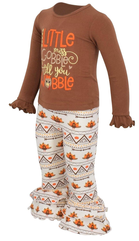 e3d4268ff Amazon.com  Unique Baby Girls 2 Piece Little Miss Gobble Turkey ...