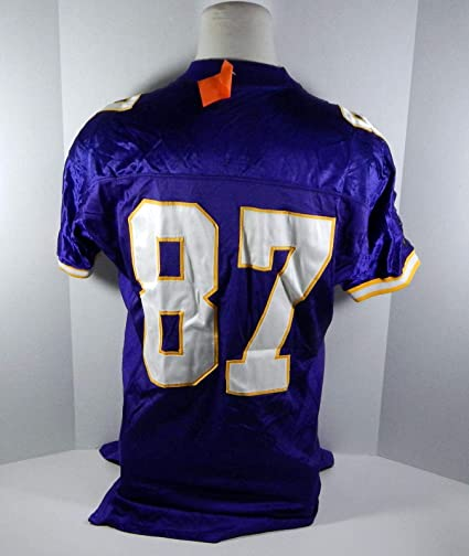 save off 06dad d2b17 1997 Minnesota Vikings Hunter Goodwin #87 Game Issued Purple ...