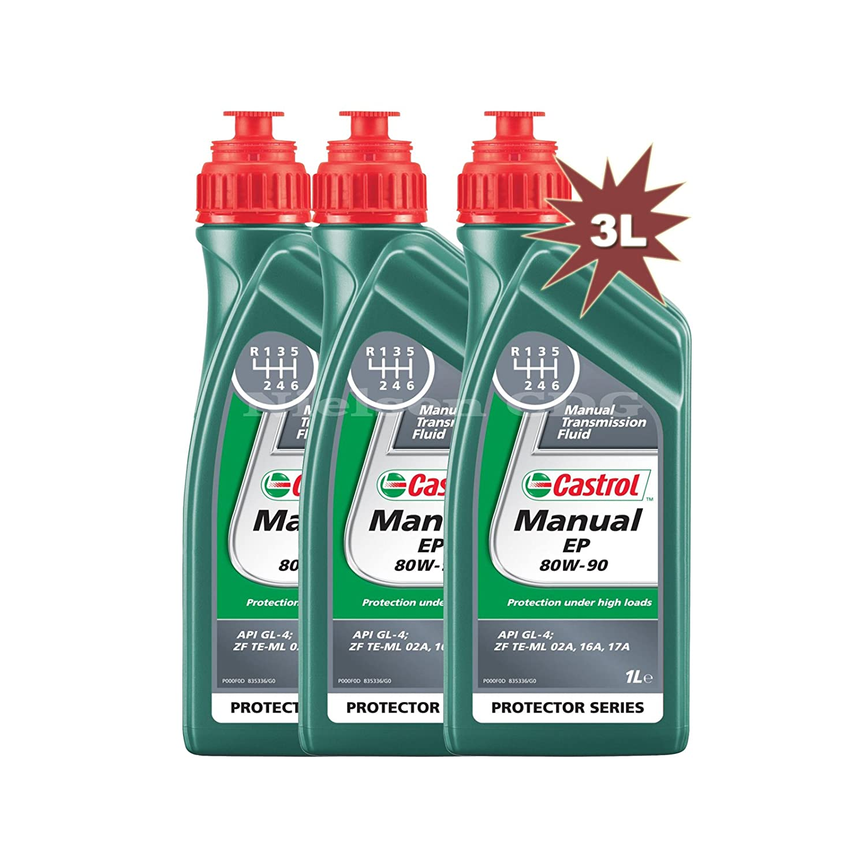 Castrol Manual EP 80w-90 Gear Oil CAS-1896-7160-3 - 3x1L = 3 Litre Nielsen CDG Castrol Manual EP80w-90