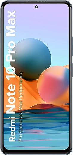Redmi Note 10 Pro Max (Glacial Blue, 8GB RAM, 128GB Storage) -108MP Quad Camera | 120Hz Super Amoled Display | ICICI Cashback 1500 Off