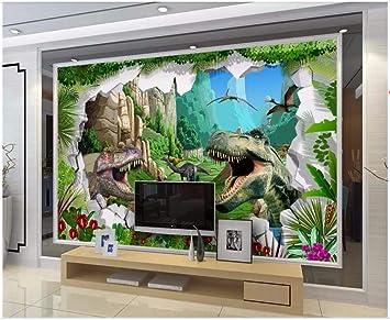 Ytdzsw Mural Fotográfico Personalizado Papel Tapiz 3D Dibujos Animados Antiguo Dinosaurio Era Sala De Estar Decoración Para El Hogar Murales De Pared 3D Papel Tapiz Para Paredes 3D-350X245Cm: Amazon.es: Bricolaje y herramientas