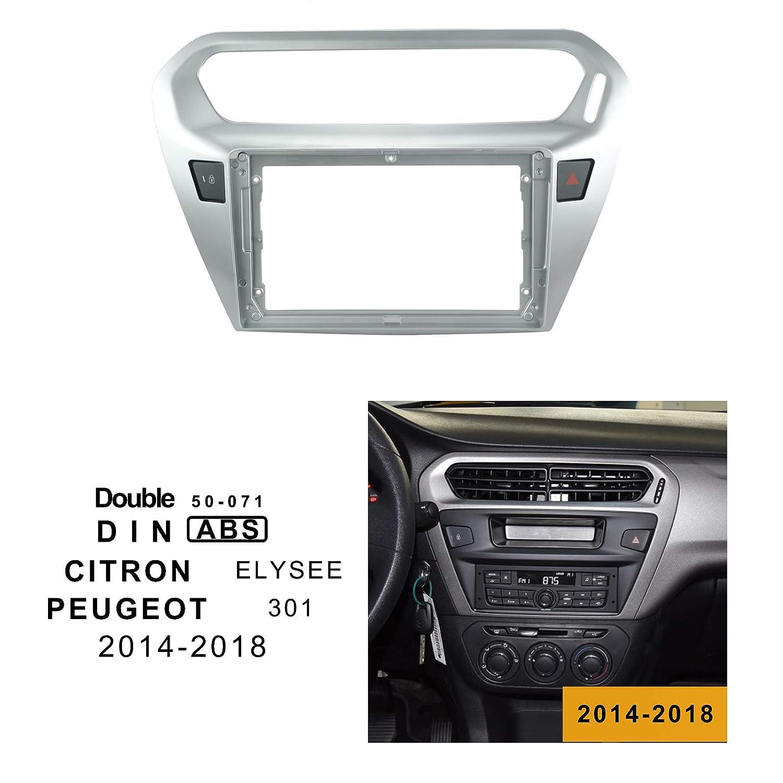 LEXXSON Marco de Montaje de Radio para Coche con Doble DIN para Peugeot 301 a/ños 2014-2018//Citron SLYSEE 2014-2018