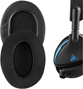 Geekria Sport Cooling Gel Almohadillas para Beach Turtle, Stealth, Ear Force, Call of Duty, Recon Series Auriculares, Almohadillas para Orejas, Almohadillas para Orejas (Extra Gruesas/Negras)
