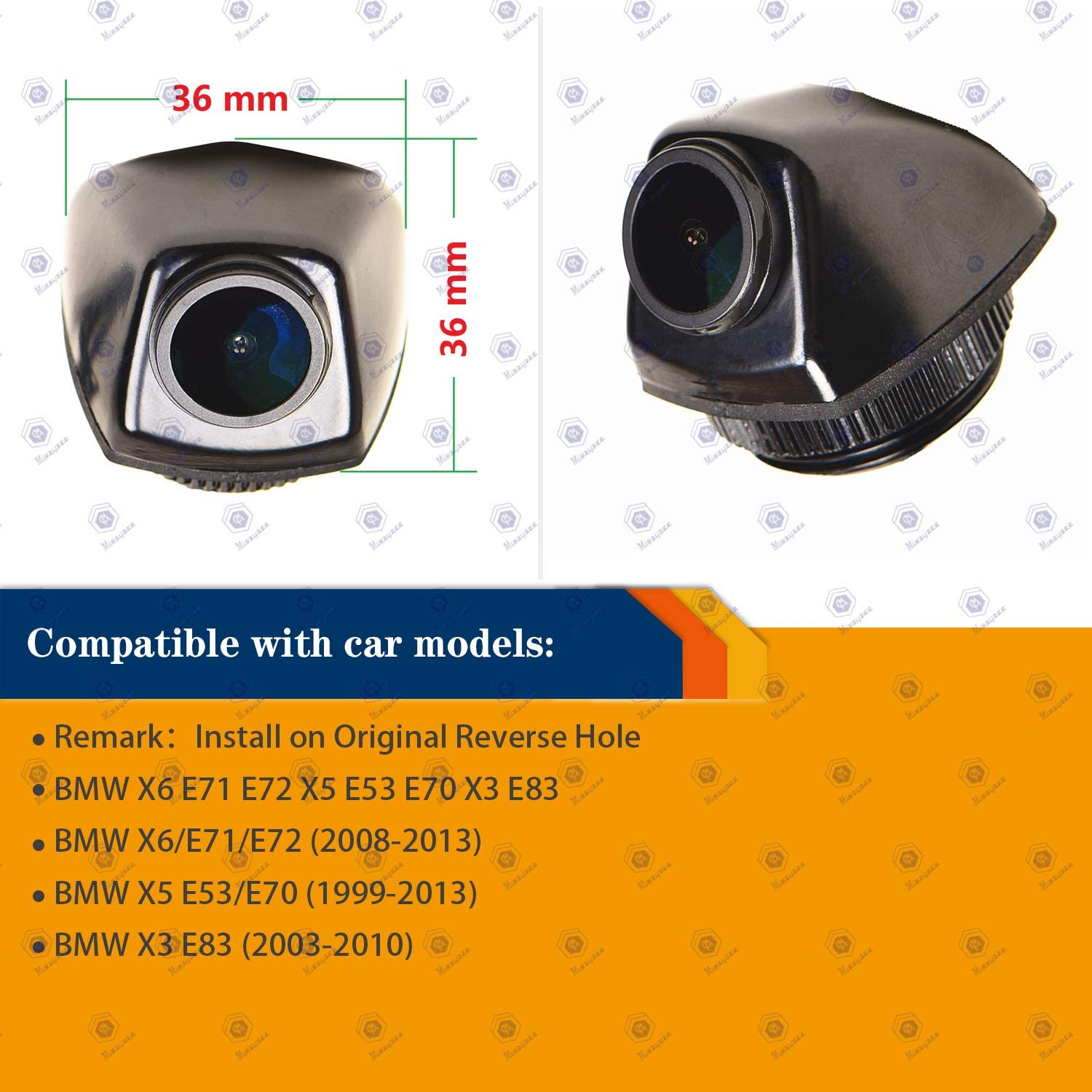 HD 1280x720p Reversing Camera Integrated in Number Plate Light License Rear View Backup Camera Waterproof Night Vision for BMW X6 E71 E72 X5 E53 E70 X3 E83