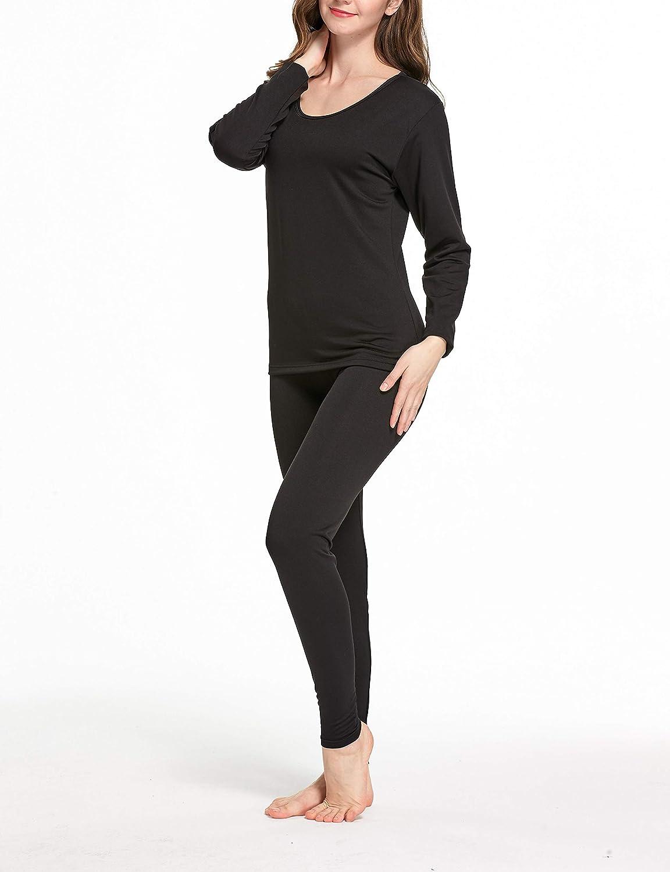 Phoeron Womens Thermal Underwear Set Top /& Bottom Long Johns
