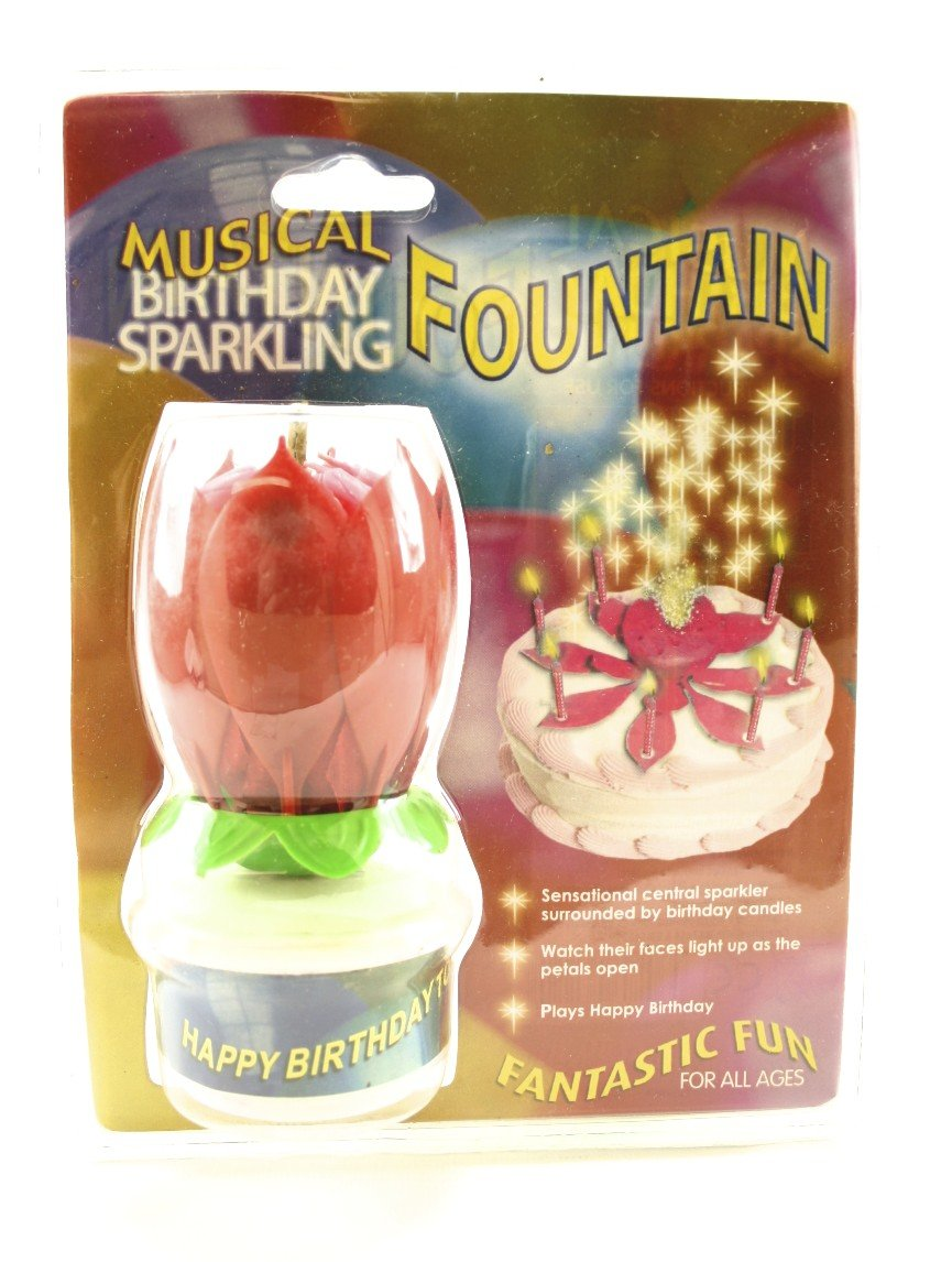 Musical Sparkling Fountain Candle Amazoncouk Toys Games