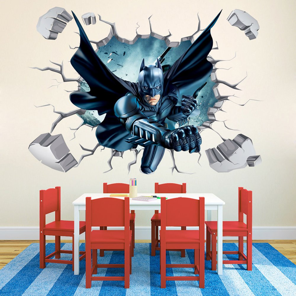 Exceptionnel Amazon.com: Batman Through Wall Stickers With Decor Decal Art Removable  Vinyl Home Art Decor For Kids Nursery Bedroom: Home U0026 Kitchen