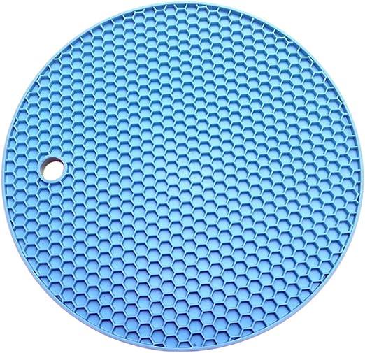 Tapete de silicona aislante redondo para ollas, antideslizante, resistente al calor, para olla, sartén, taza (color al azar): Amazon.es: Hogar