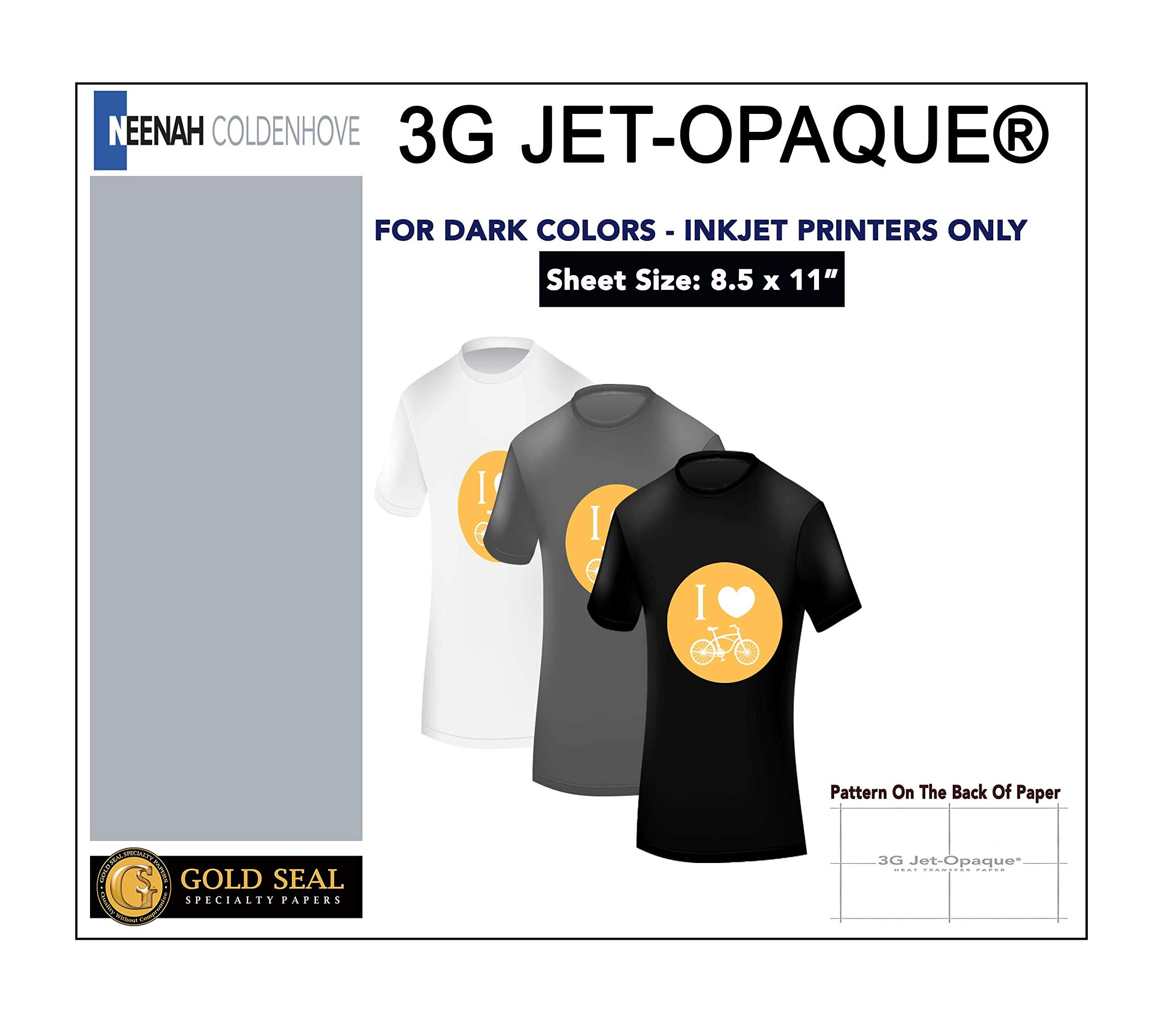 Sublimation Printing for Dark Cotton Fabric (3G Heat Transfer Paper) 8.5'' x 11'' - 50 Sheets by Neenah