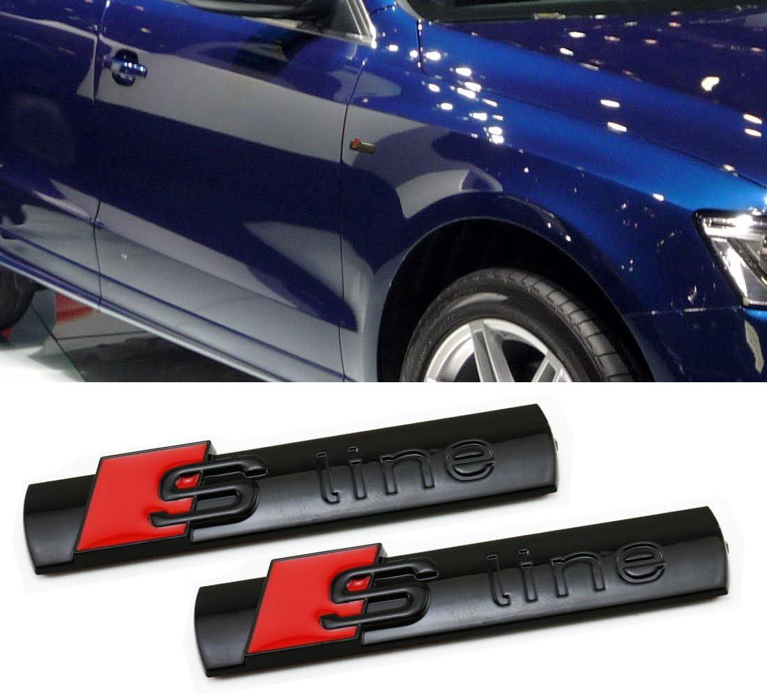 4Pcs OEM Original Sline Emblems Badges Decal Grille 3D For AUDI A4-8 Q3-5 7 TT 2