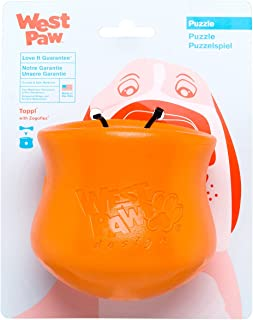 product image for WEST PAW Zogoflex Toppl Treat Dispensing Dog Toy Puzzle – Interactive Chew Toys for Dogs – Dog Toy for Moderate Chewers, Fetch, Catch – Holds Kibble, Dog Training Treats, Made in USA