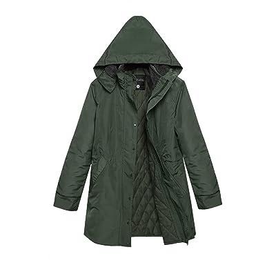 ACEVOG Women Winter Warm Thick Front-Zip Hooded Parka Coat Outdoor Jacket