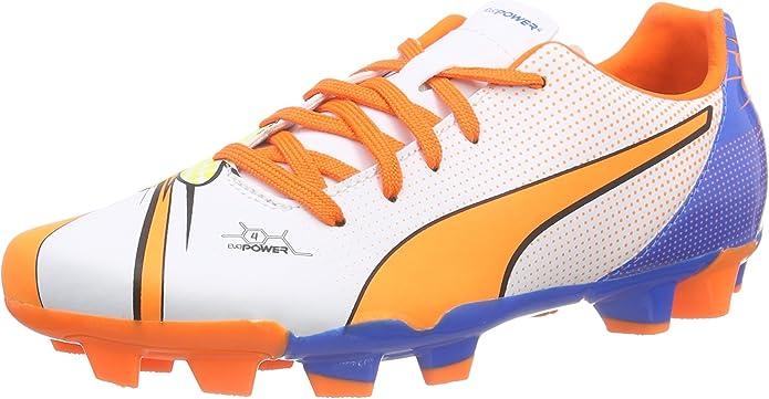 Puma Evopower 4.2 Pop FG Jr, Botas de fútbol Niños^Niñas, Blanco ...