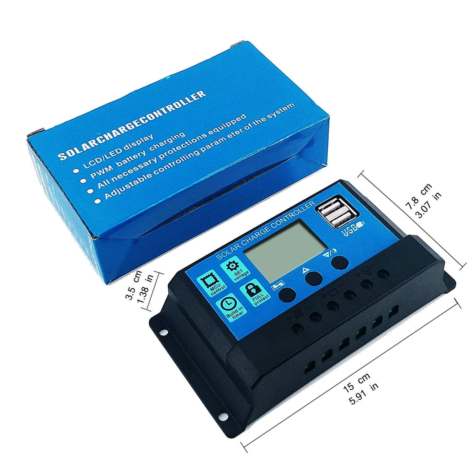 Y H 10a Pwm Solar Charge Controller 12v 24v Battery Regulator 12v24v Automatic Art Of Circuits Panel Lcd