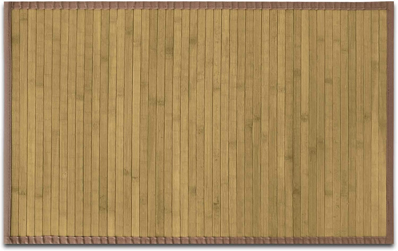 casa pura Tapis de Bain Bambou Naturel hypoallerg/énique Rebord wenge 50x80cm antid/érapant