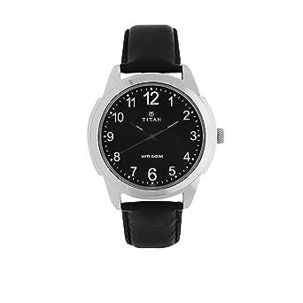 79dad26ba Amazon.com  Titan Men s  Neo  Quartz Metal and Leather Casual Watch ...