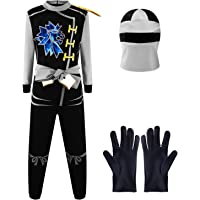 Katara-1771-12 Disfraz de Ninja para Combate, para niños, Color Gris-Zane Julien, Talla L (8-10 años) (1771-12)