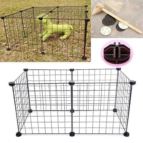 FHeaven (TM) 6 piezas DIY montable metal hierro valla jaula ...