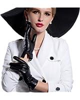 Matsu Women Lady's Winter Warm Lambskin Soft Leather Driving Gloves 7 Colors M9022