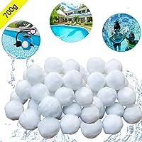 Funmo Bolas de filtro, Bola de filtro para piscina 700g Filter Balls Equipo De Limpieza para Piscinas/ Acuario / Pecera…