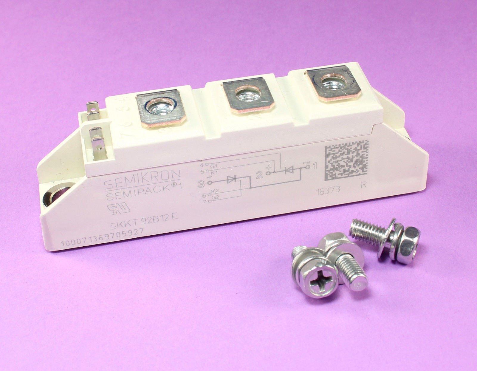 SEMIKRON SKKT 92B12 E, Dual Thyristor Module SCR, 95A 1200V, 7-Pin Semipack1 by Semikron (Image #1)