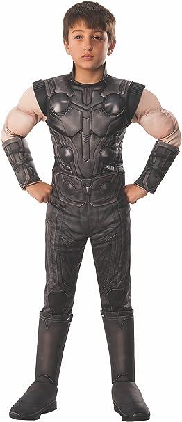 Avengers - Disfraz de Thor Premium oficial para niños, infantil 3 ...