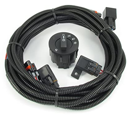 amazon com: 2010-2012 v6 mustang fog light wiring & switch kit: automotive