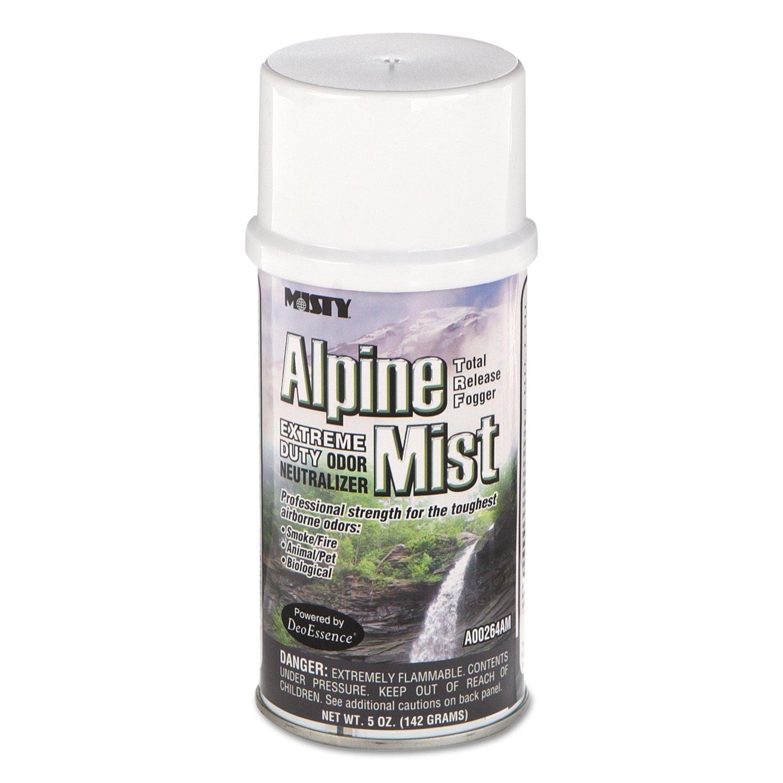 Misty 1039402 Odor Neutralizer Fogger, Alpine Mist, 5oz, Aerosol (Case of 12)