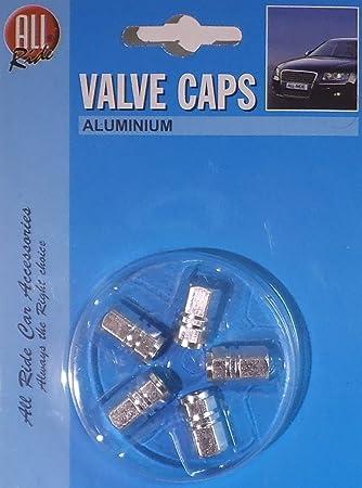 Ventilkappen Aus Aluminium Von All Ride Sechskant Kolben Design Silber Auto