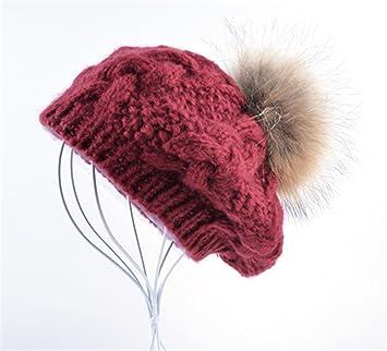 02269edae Amazon.com: Gome-z Soft New Winter women hat Berets knit wool pompom ...