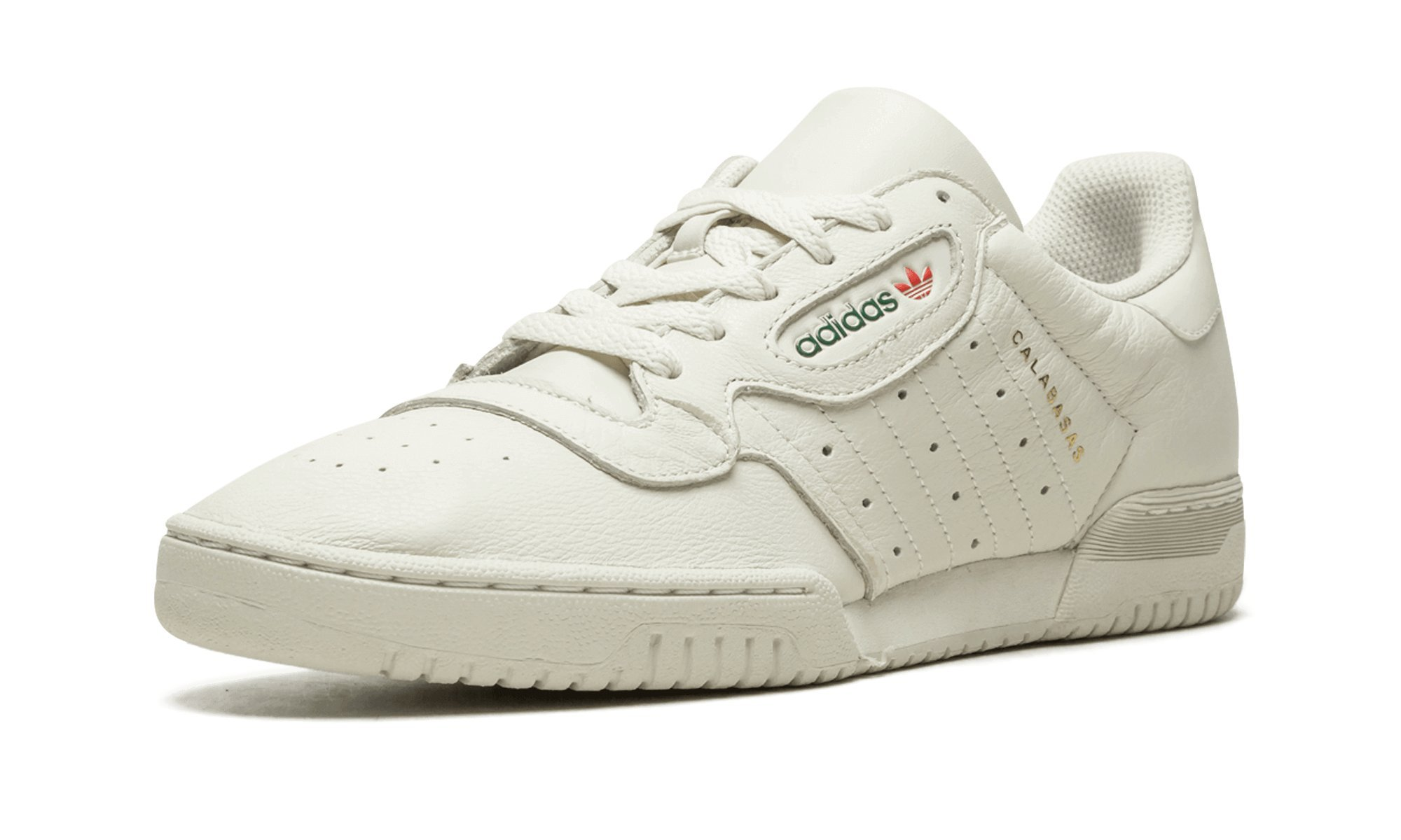 7b058e6a82f Galleon - Adidas Mens Yeezy Powerphase Calabasas Cream White Leather Size 13