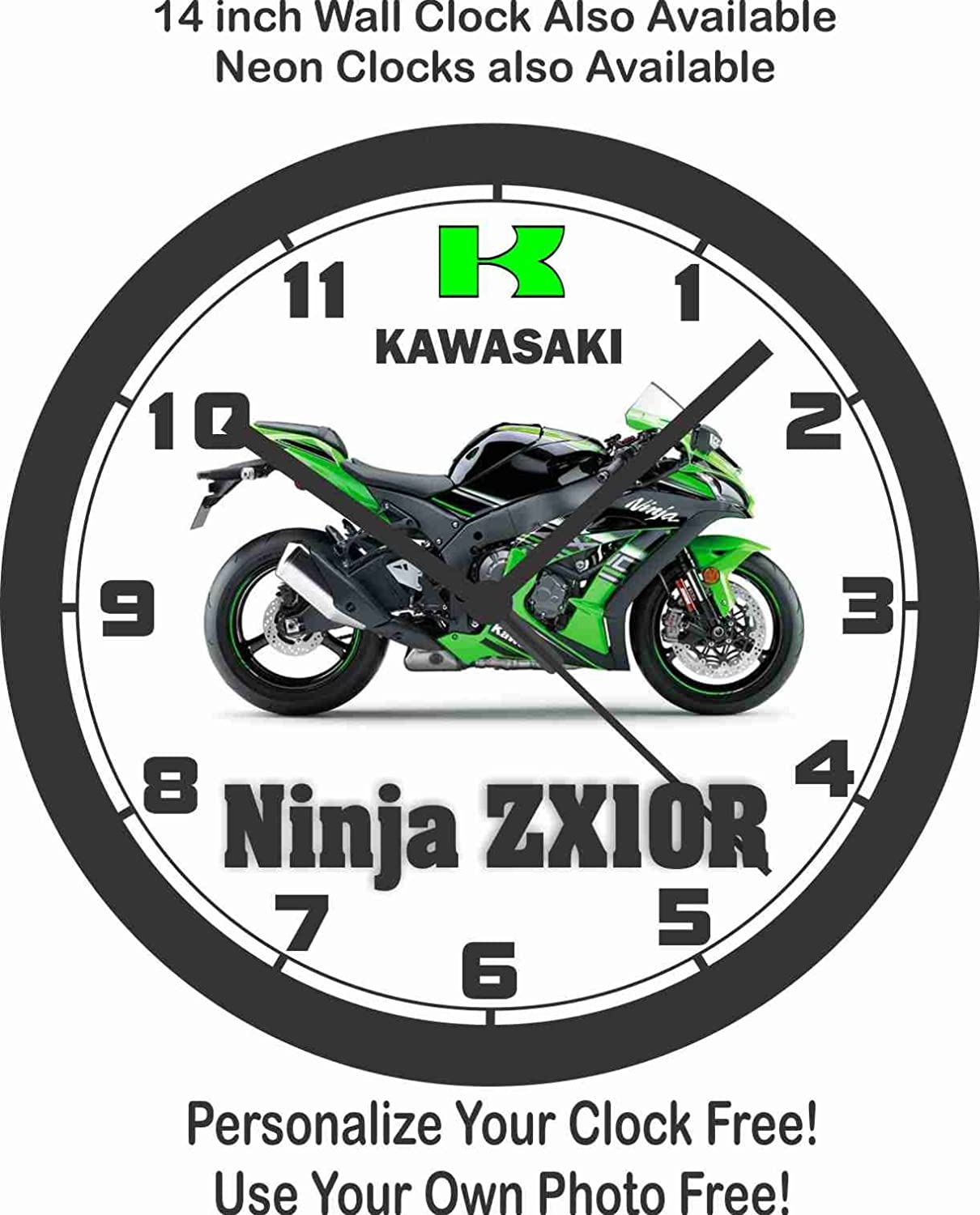 2016 KAWASAKI NINJA 10R KRT EDITION WALL CLOCK-FREE USA SHIP