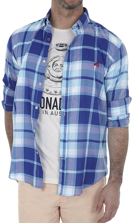 TALLA XL. Altonadock Camisa Casual para Hombre