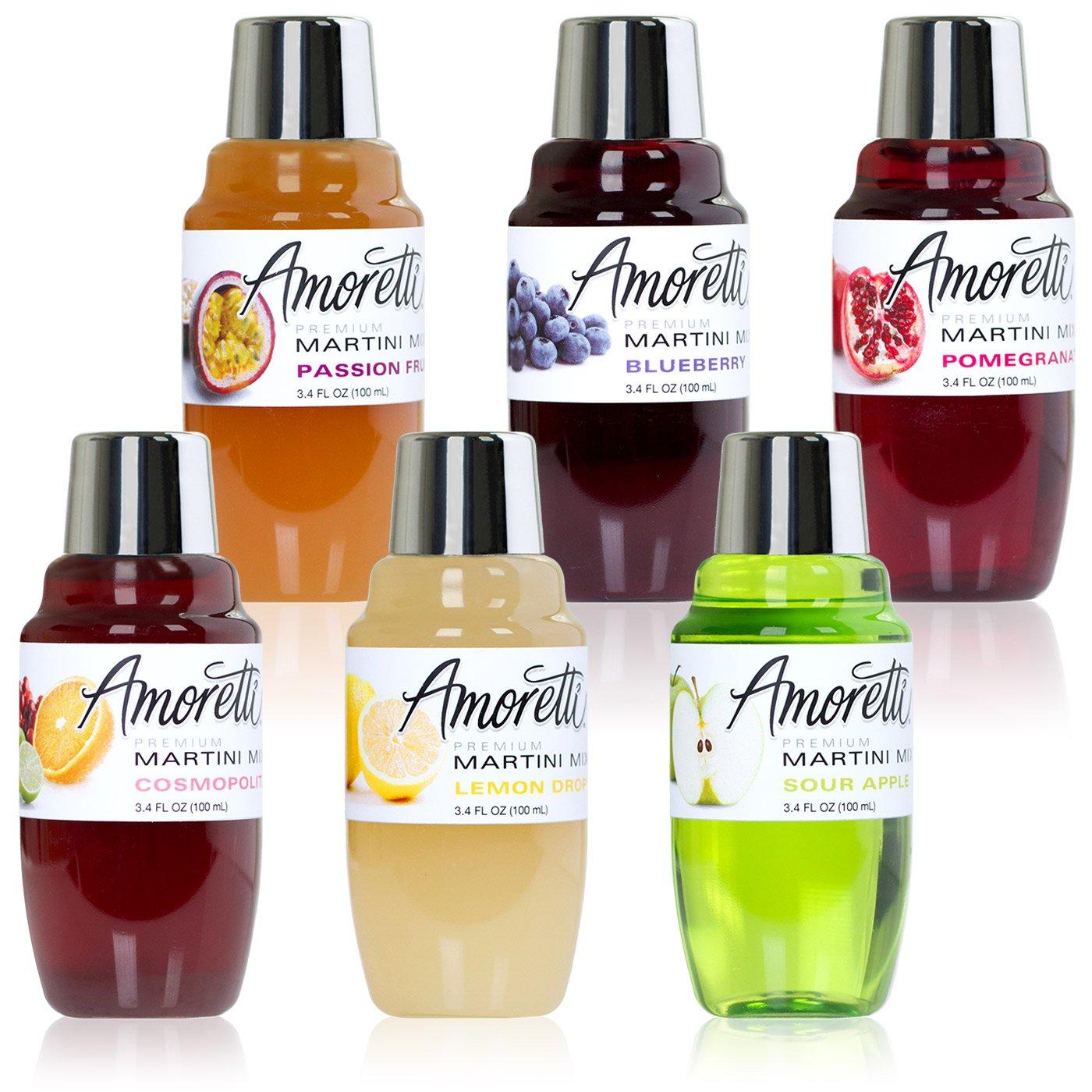 Amoretti Premium Martini Cocktail Mix Minis, 3.4 fl oz 6 Pack by Amoretti