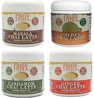 Pride Of India chai latte tradicional surtido 3pack polvo premezcla té instantáneo, 3 tarros total de 26,5 oz (750gm) hace…