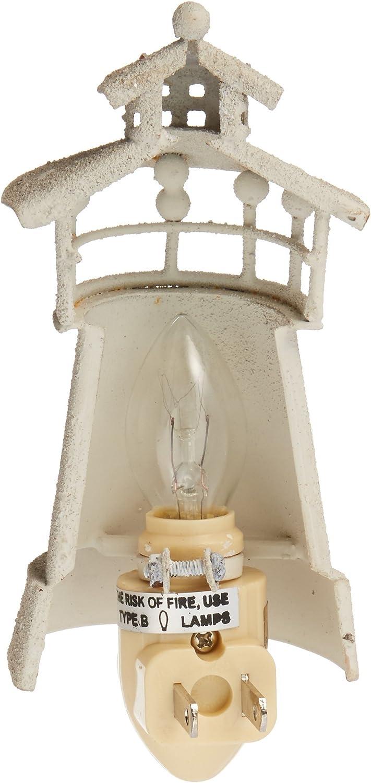 Iron Cream Lighthouse Night Light by Park Designs
