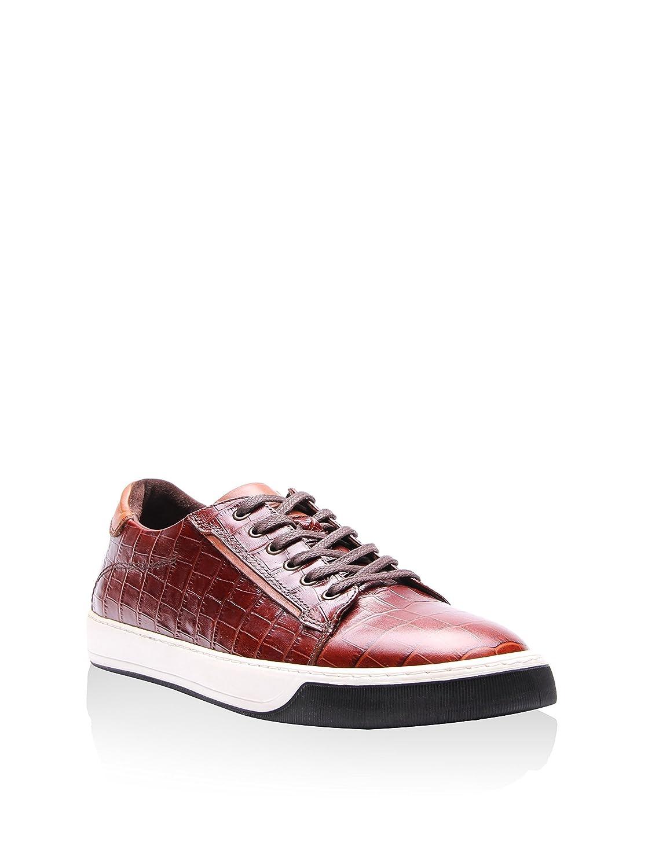 Reprise RPS1630 Sneaker Leder Taba Kroko Braun