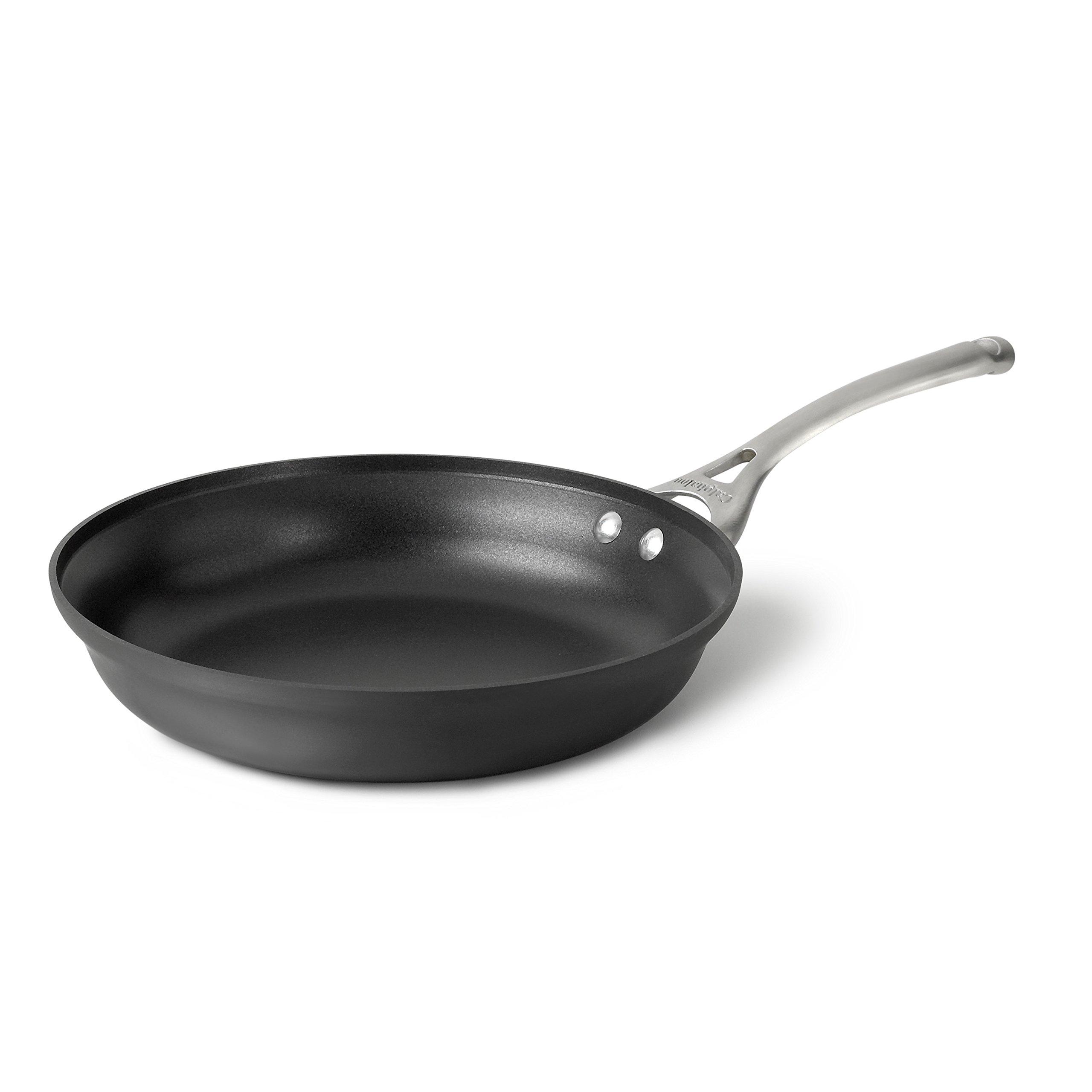 Calphalon Contemporary Hard-Anodized Aluminum Nonstick Cookware, Omelette Pan, 12-inch, Black by Calphalon