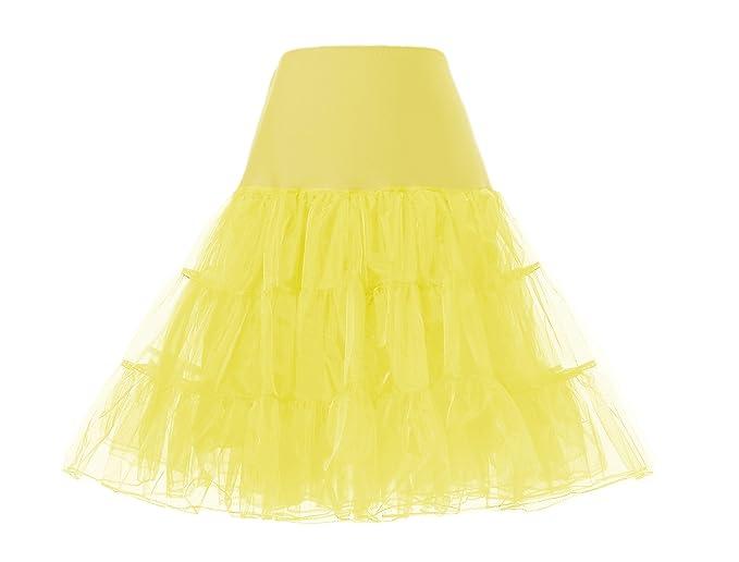 Cancan Enaguas falda vestido midi Cancan 50s Retro Rockabilly Enaguas Miriñaques Faldas vestido retro debajo de