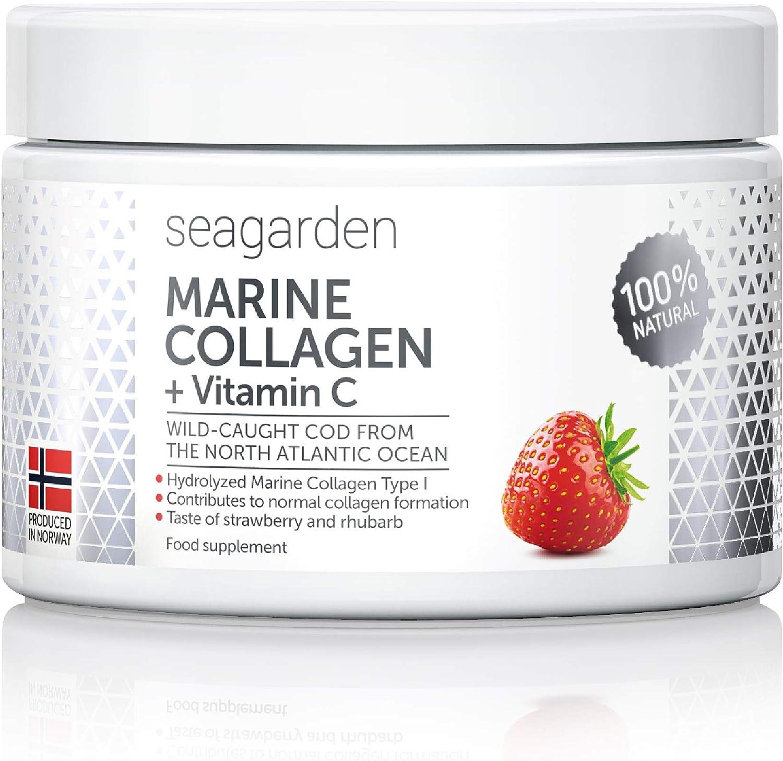 Polvo de colágeno marino noruego + vitamina C | Sabor a fresa ...