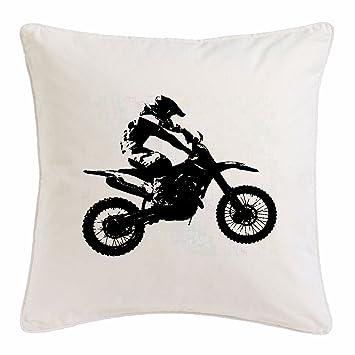Reifen-Markt Funda de la Almohada 40x40cm Motocross Silueta ??125cc Motocross Freestyle Motocross Motociclista Bici de la Motocicleta Deportes Ropa MÁQUINA ...