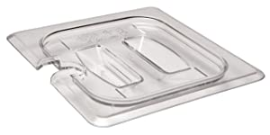 Cambro 60CWCHN135 Food Pan Lid 1/6 Camwear Notched Handle Clear (Pack of 6)