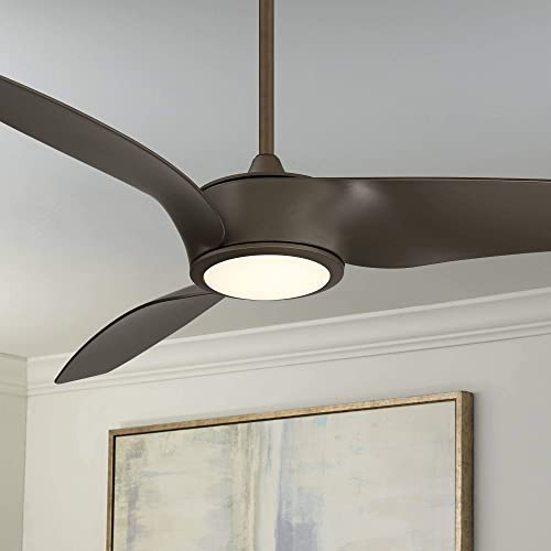 56″ Casa Como Oil Rubbed Bronze LED Ceiling Fan