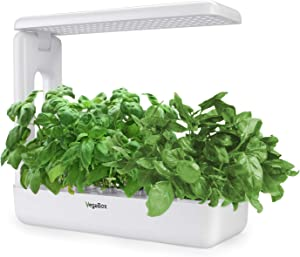 VegeBox Smart LED Hydroponics Growing System, Indoor LED Lighting Herb Garden Plant Germination Kits (Kitchen-Box, White)
