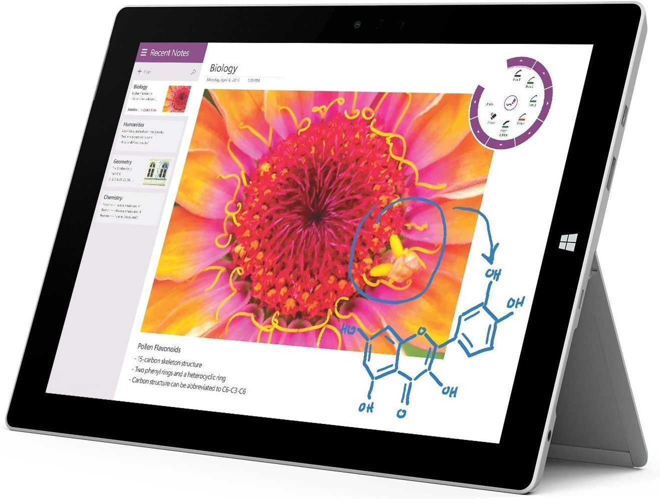 Microsoft Surface 3 Tablet (10.8-Inch, 128 GB, Intel Atom, Windows 10 PRO) (No Cover/Keyboard and No Pen) (Renewed)